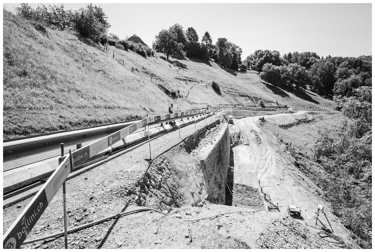 Assainissement de trois murs de soutènement aval à Bioley-Magnoux