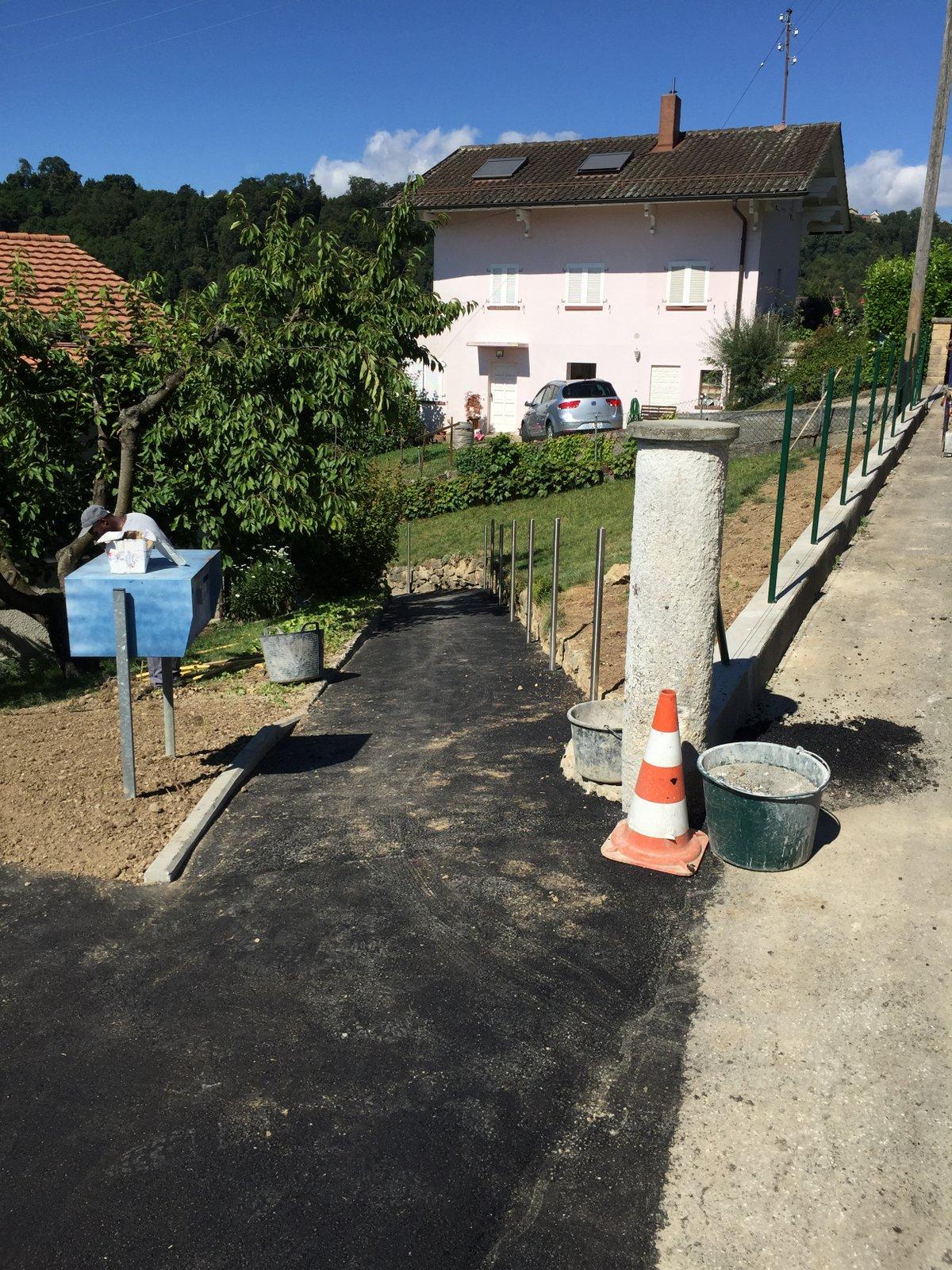 Construction d'un mur de soutènement et création de deux places de parc à Penthalaz