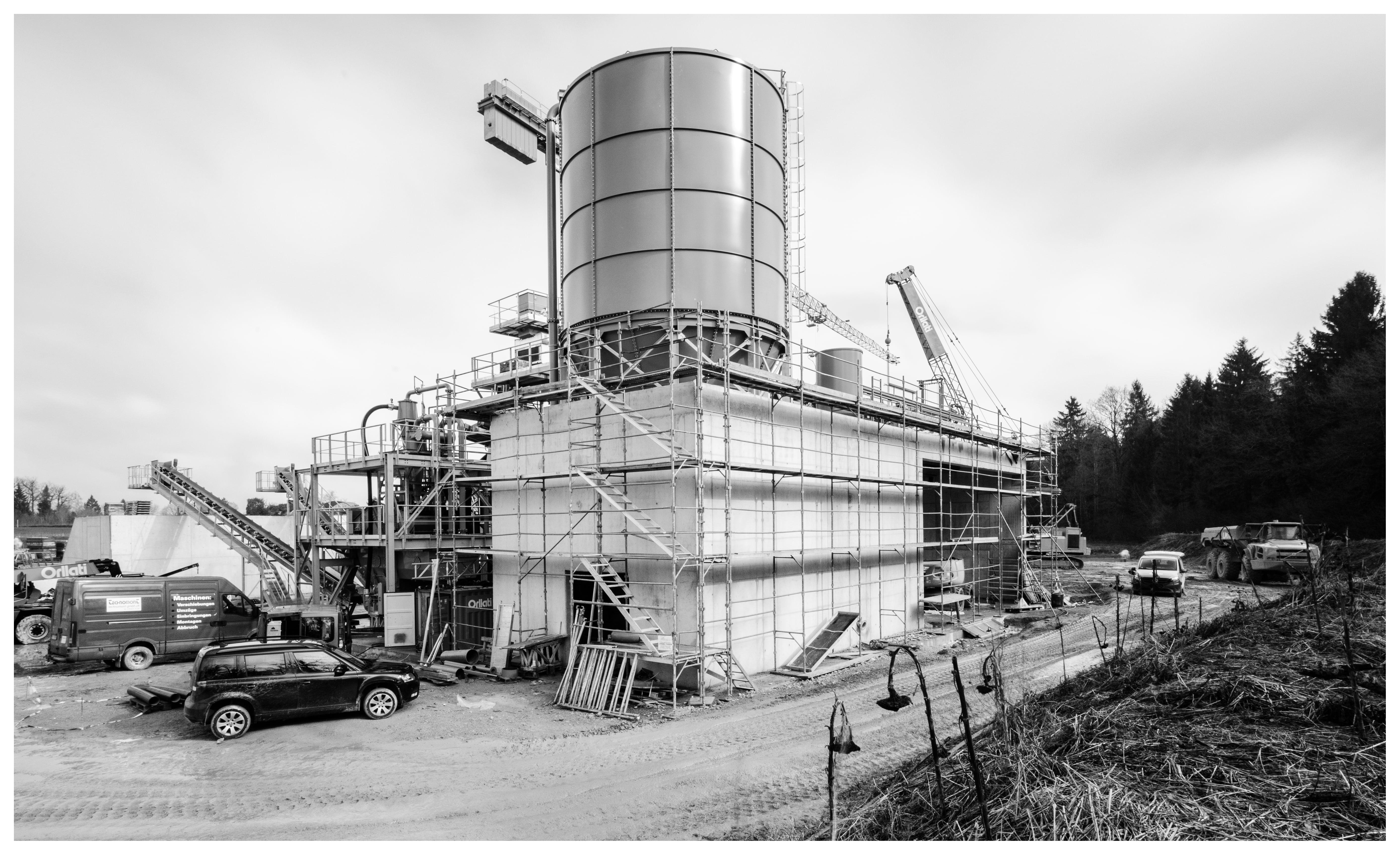 Construction d'une station de traitement de granulats