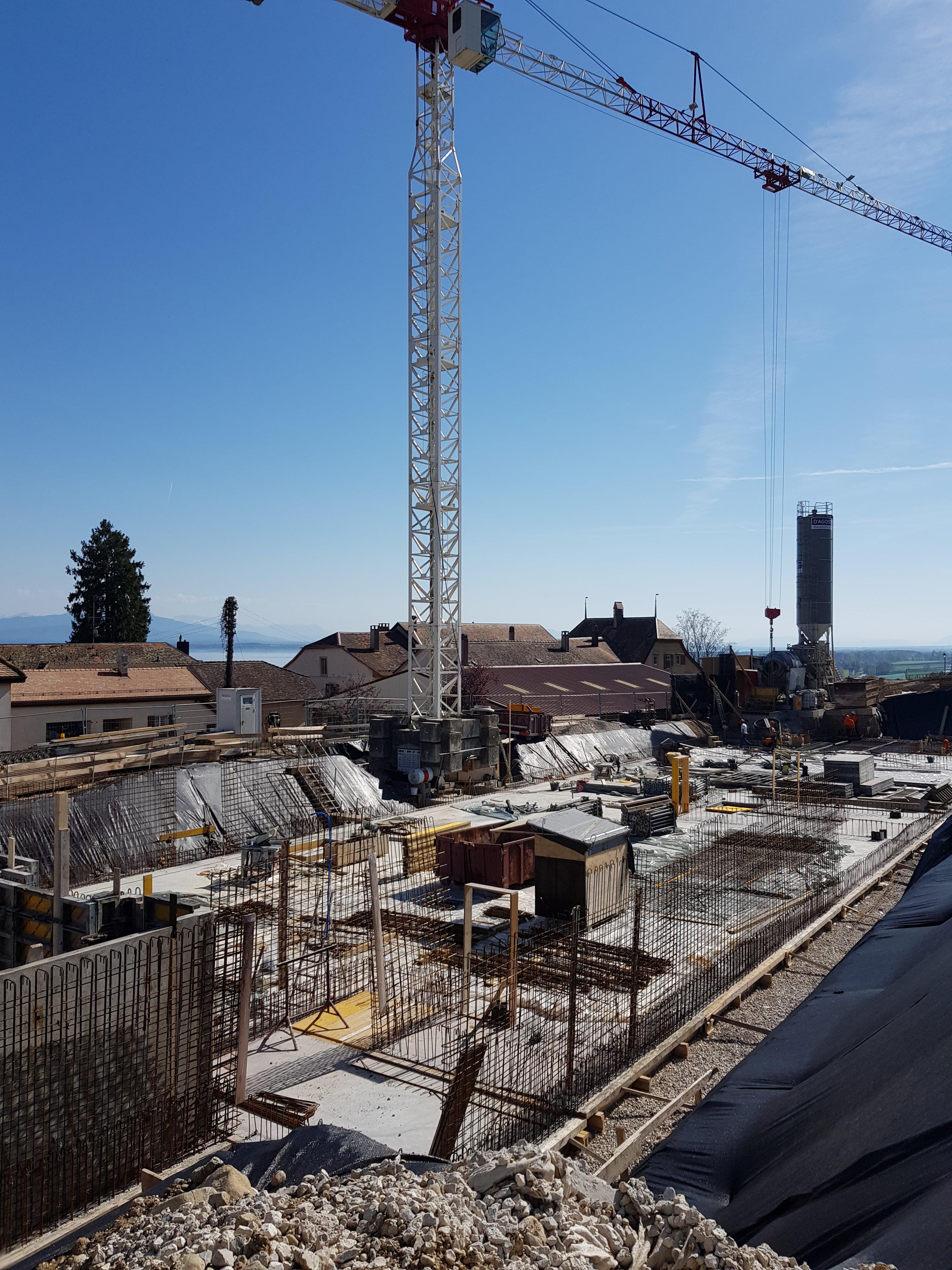 Construction de 3 immeubles de 6 logements avec parking souterrain au Mont-sur-Rolle